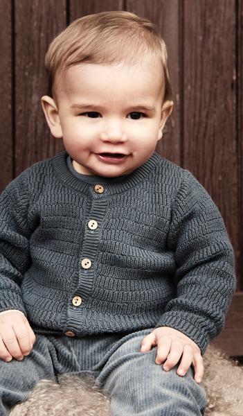 Bilde av Cardigan knit dark slate